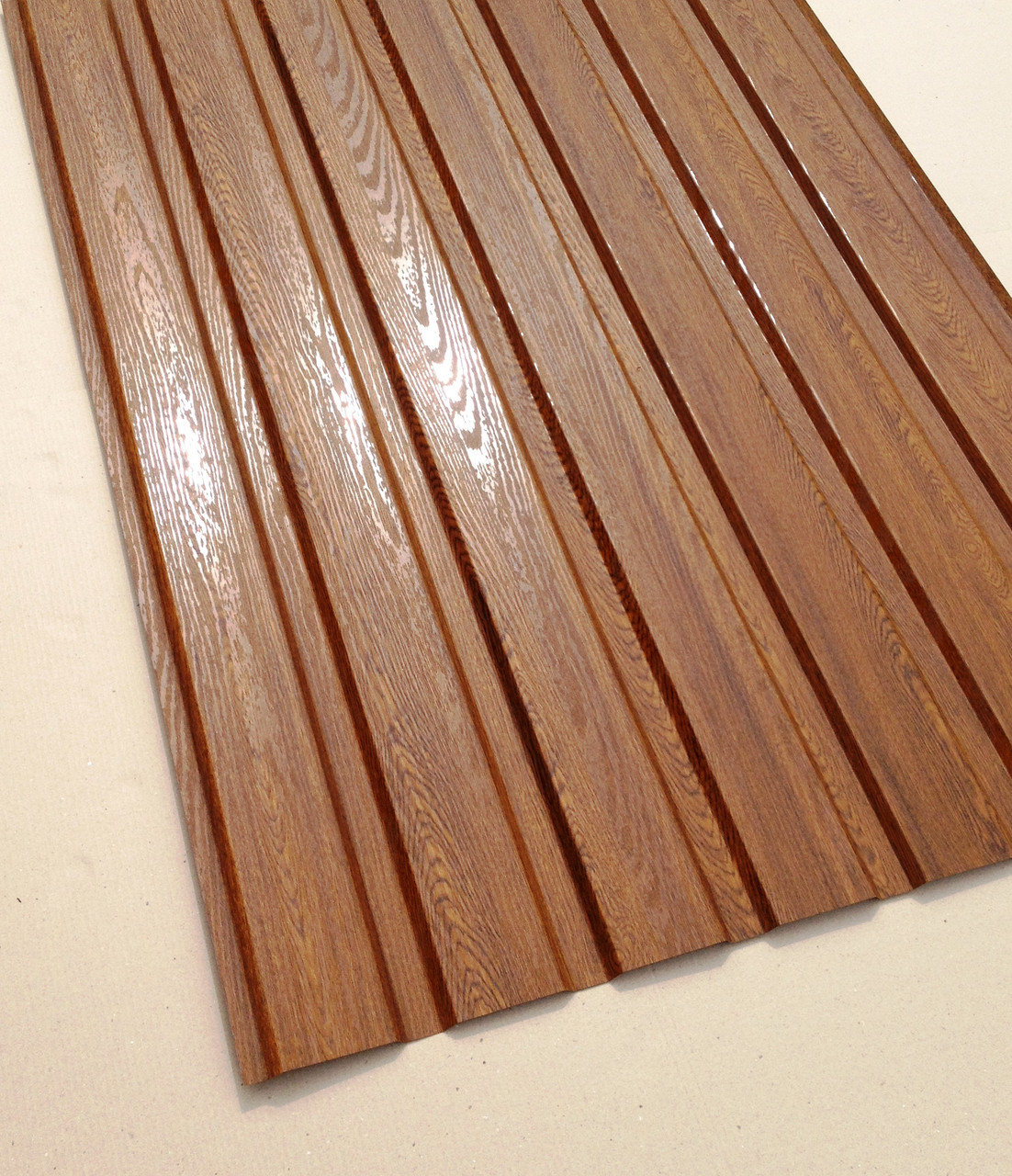 Профнастил с объемным рисунком  дерева Дуб 3D wood18DARK/8003, размер листа 1,5Х1,16м