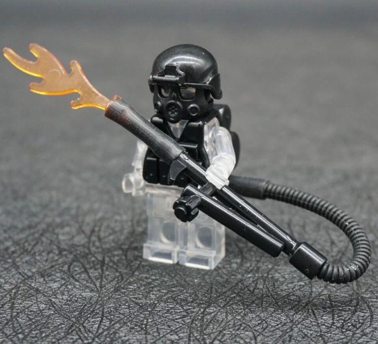 Огнемет для Минифигурок спецназ военные солдаты лего Lego