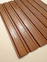 Профнастил с объемным рисунком  дерева Дуб 3D wood18DARK/8003, размер листа 2мХ1,16м, фото 2