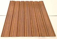 Профнастил с объемным рисунком  дерева Дуб 3D wood18DARK/8003, размер листа 2мХ1,16м, фото 3