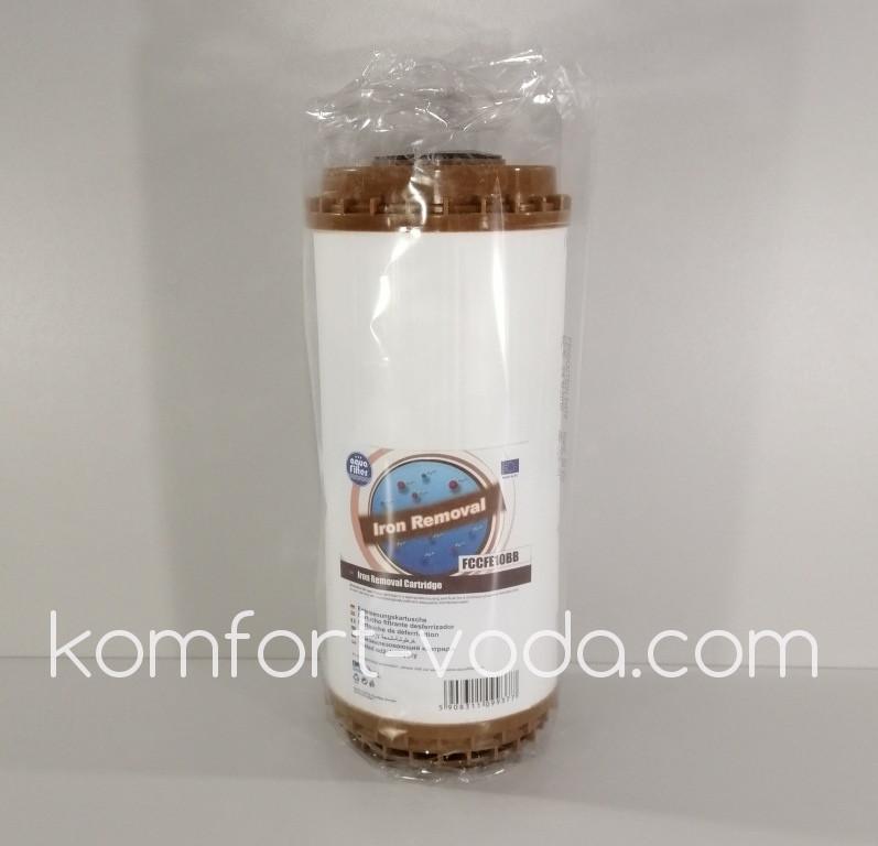 """Картридж удаления железа Aquafilter FCCFE10BB, 10"""" Big Blue"""