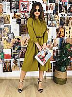 Платье рубашка хаки, арт.1000, фото 1