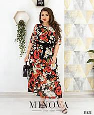 Платье летнее шифоновое женское, размер:58-60, фото 3
