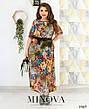 Платье летнее шифоновое женское, размер:58-60, фото 4