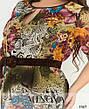 Платье летнее шифоновое женское, размер:58-60, фото 6