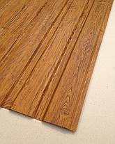 Профнастил с объемным рисунком  дерева 3D wood3701-01/8003, размер листа 2мХ1,16м, фото 2