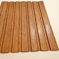 Профнастил с объемным рисунком  дерева 3D wood3701-01/8003, размер листа 1,5мХ1,16м, фото 3