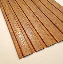 Профнастил с объемным рисунком  дерева 3D wood3701-01/8003, размер листа 1,5мХ1,16м, фото 2