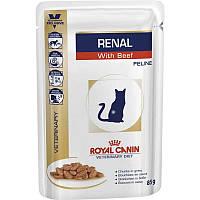 Влажный корм Royal Canin Renal Beef - для кошек с почечной недостаточностью 0,85гр