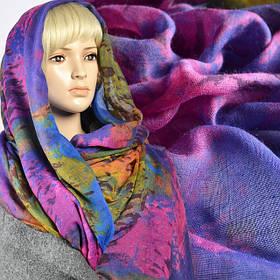Марлевка ткань для шарфов с рисунком