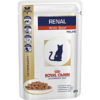 Влажный корм Royal Canin Renal Feline Chicken для взрослых котов с хронической почечной недостаточностью, 85 г