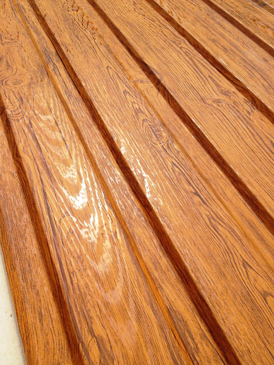 Профнастил с объемным рисунком  дерева 3D wood3701-01/8003, размер листа 2мХ1,16м