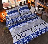 Евро постельное белье бязь голд - Абстракция синие кружочки