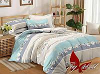 Комплект постельного белья сатин полуторный TAG S297