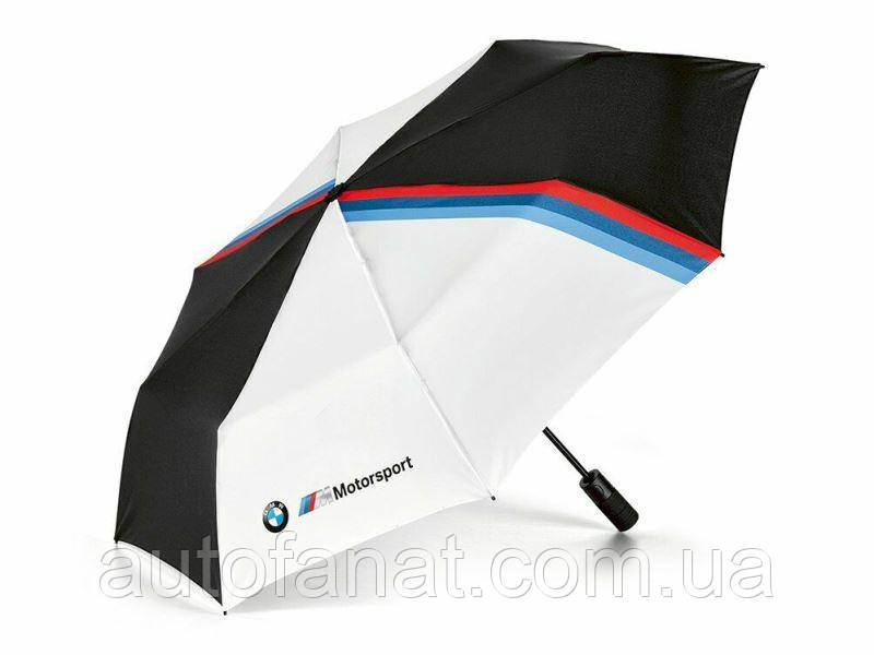 Оригинальный складной зонт BMW M Motorsport Folding Umbrella, Black/White (80282461136)
