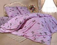 Полуторное постельное белье бязь gold - Розовые бабочки