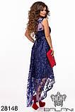 Женское вечернее платье с удлиненной спинкой Вышивка на сетке Размер 42 44 46 В наличии 5 цветов, фото 3
