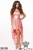 Женское вечернее платье с удлиненной спинкой Вышивка на сетке Размер 42 44 46 В наличии 5 цветов, фото 4