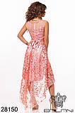 Женское вечернее платье с удлиненной спинкой Вышивка на сетке Размер 42 44 46 В наличии 5 цветов, фото 5