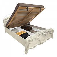 Двоспальне ліжко 160х200 з підйомним механізмом у спальню Олімпія Радіка Беж Міромарк