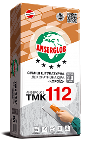 Штукатурка Anserglob TMK 112 декоративная, короед, 2.5мм, 25 кг
