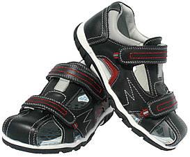 Детские кожаные босоножки для мальчика Clibee Польша размеры 32-37