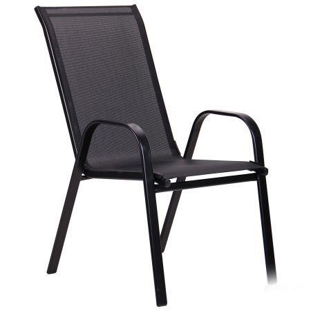 Металлический стул Puerto каркас черный, ткань сетка черная, TM AMF