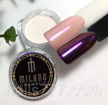 Втирка жемчужная для дизайна ногтей Розовая, в баночке, фото 2