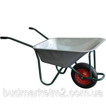 Тачка садовая одноколесная усиленная 85 л 160 кг d400 мм
