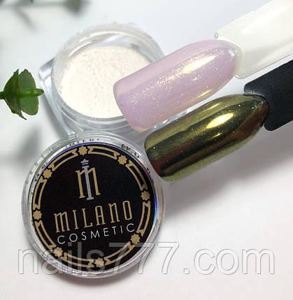 Втирка жемчужная для дизайна ногтей, Золотая в баночке, фото 2