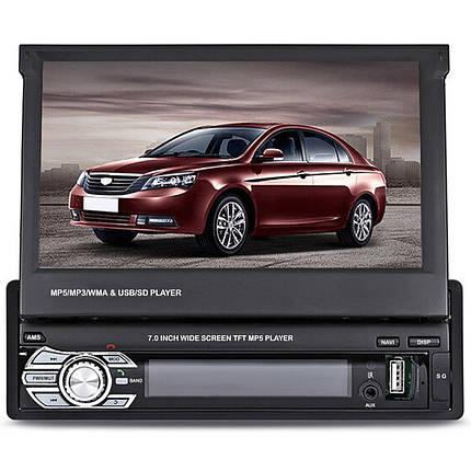 """➨Магнитола Lesko 9601G с экраном 7"""" функцией GPS навигатора 1DIN выдвижной экран автомобильная WinCE, фото 2"""
