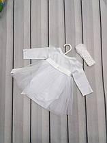 Боди-платье на крещение с фатиновой юбкой
