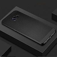 Защитный чехол-накладка сетчатый для Samsung Galaxy S8, S9, S10 (черный)
