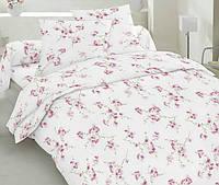 Двуспальное постельное белье бязь голд - Сакура красная