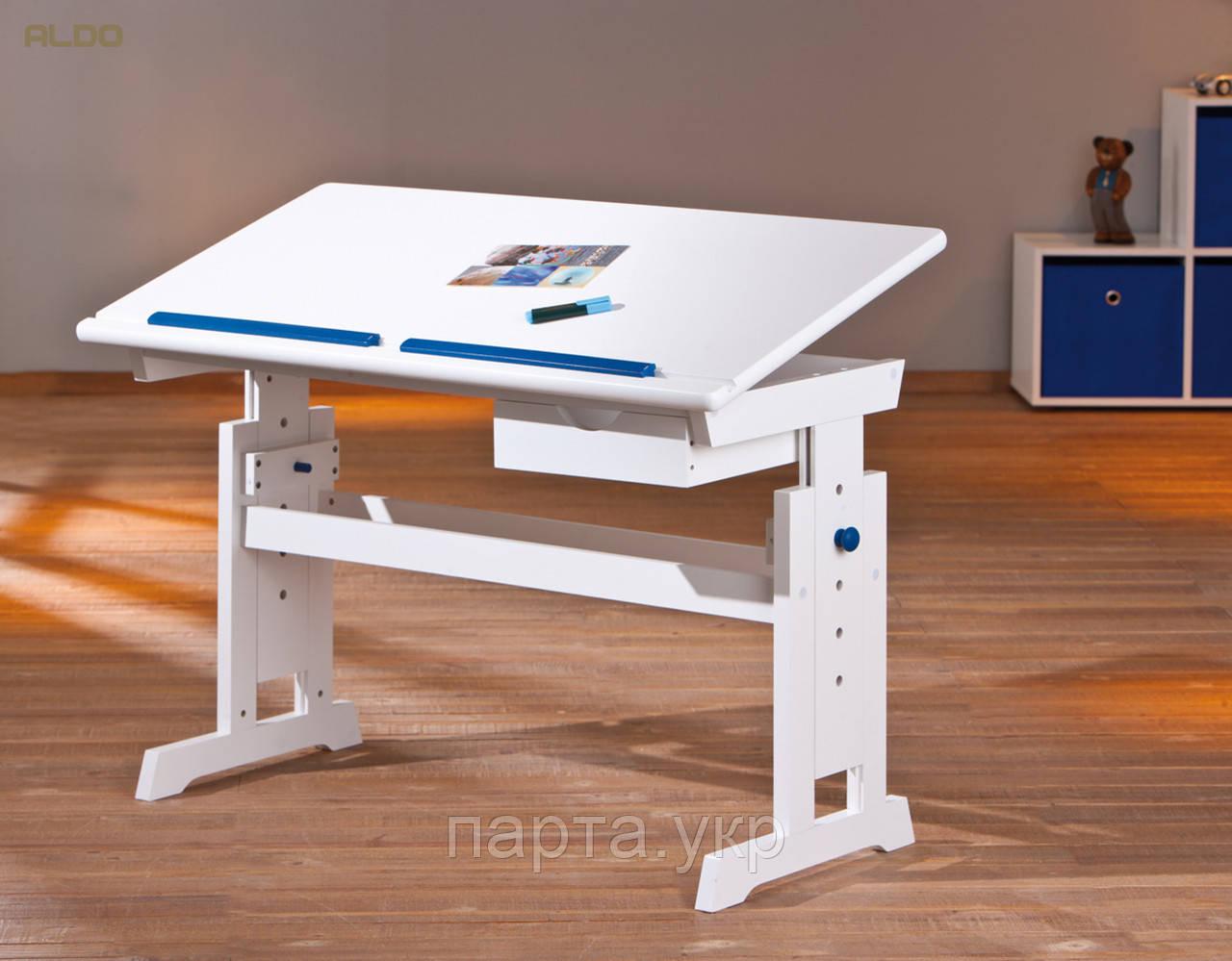 Письмовий стіл з регулюванням висоти і нахилу стільниці, білий