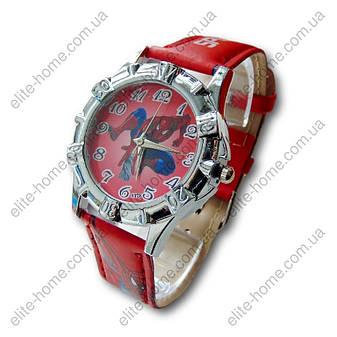 """Дитячі наручні годинники """"Spiderman"""" в подарунковій упаковці (червоний ремінець, 2вида), фото 2"""
