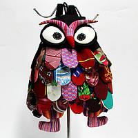 Детский рюкзак сова тканевый черный
