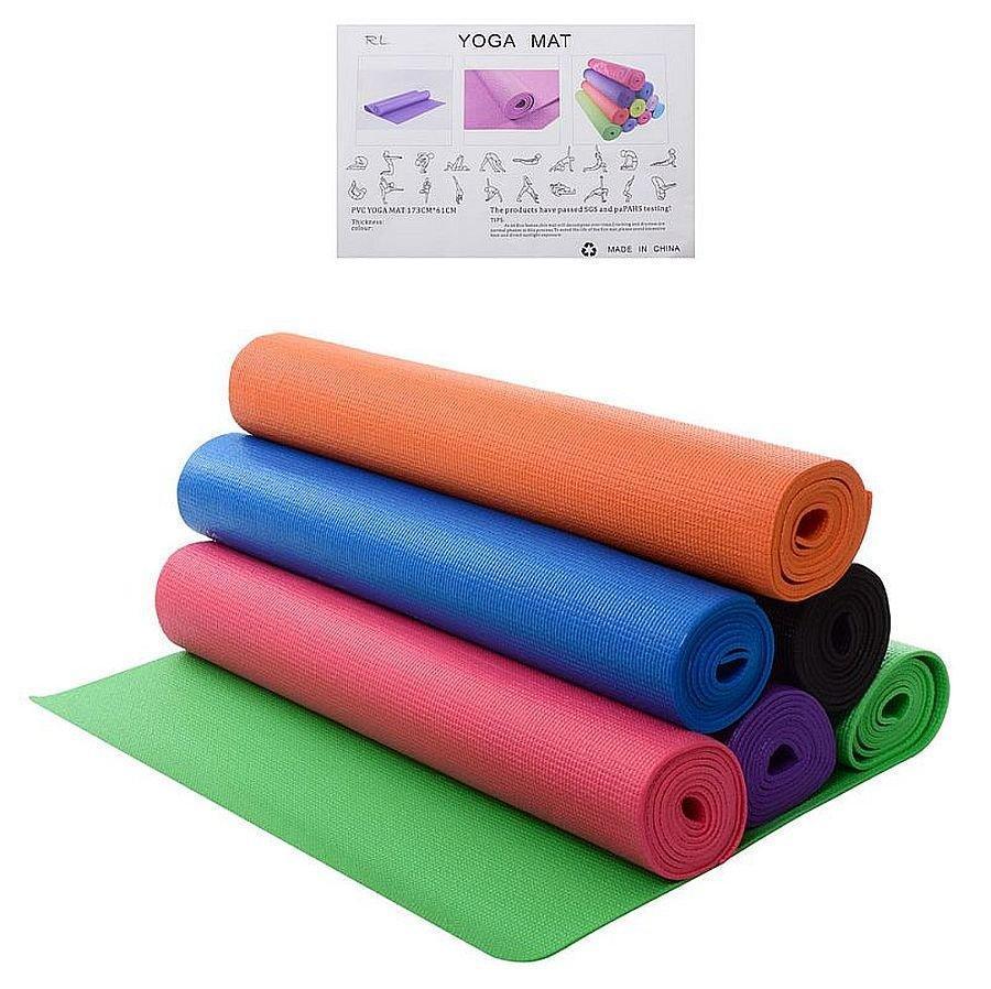 Йогамат коврик для фитнеса и йоги Ms 1846