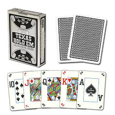 Пластикові гральні карти | Copag Texas hold'em Peek Index (Black)
