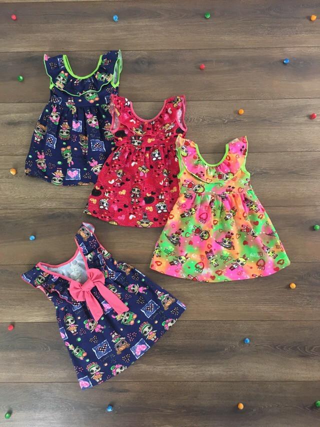 Літнє плаття для дівчинки з оборкою Ляльки Лол 86 - 116 см