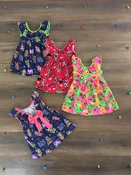 Летнее платье для девочки с оборкой Куклы Лол 86 - 116 см