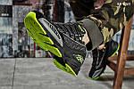 Мужские кроссовки Reebok DMX (черно/зеленые), фото 3