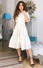 Платье-зефирка молоко Viravi Wear, модель 1003