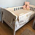 Детская кроватка с бортиками Baby Dream Konfetti белая, фото 5