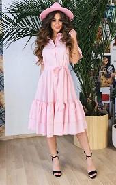 Платье-зефирка пудра Viravi Wear, модель 1003