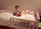 Детская кроватка с бортиками Baby Dream Konfetti белая, фото 2