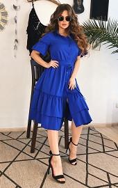Платье-зефирка электрик Viravi Wear, модель 1003