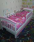 Детская кроватка с бортиками Baby Dream Konfetti белая, фото 9