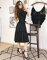 Платье-зефирка черное, арт.1003, фото 1