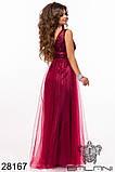 Женское вечернее платье в пол Евросетка на атласном покладе Размер 42 44 46 В наличии 5 цветов, фото 3